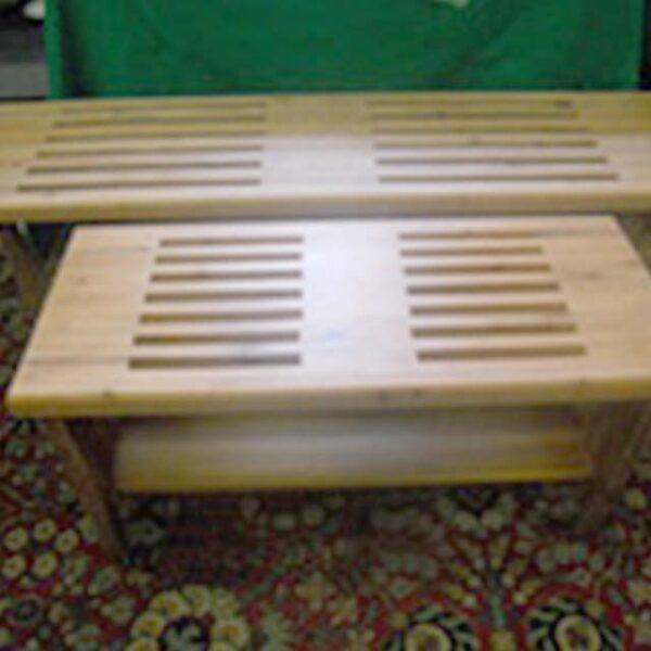 Handmade Redwood Bench