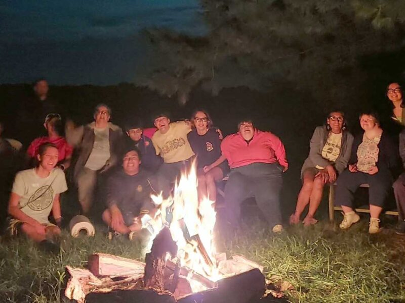 Camp Sharing Meadows Bonfire